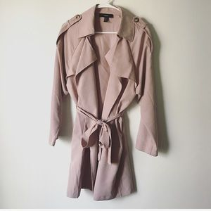 Light pink trench coat